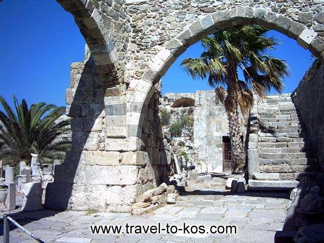THE ENCEINTE OF THE CASTLE - A view of the enceinte of Neratzias castle.