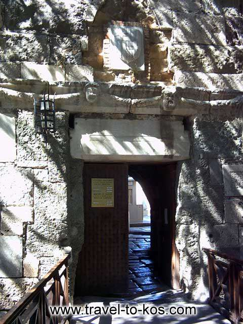 THE ENTRANCE OF THE CASTLE - A view of the main entrance to the Neratzias castle.