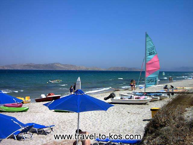 MARMARI BEACH - You can do wind surfing and other sea sport at Marmari beach.