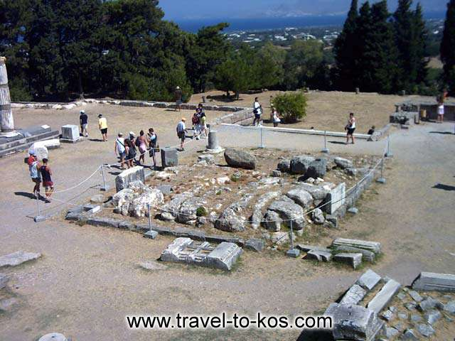 ALTAR OF ASKLEPIOS - The altar of Asklepios at the archaeological site of Asklepion.