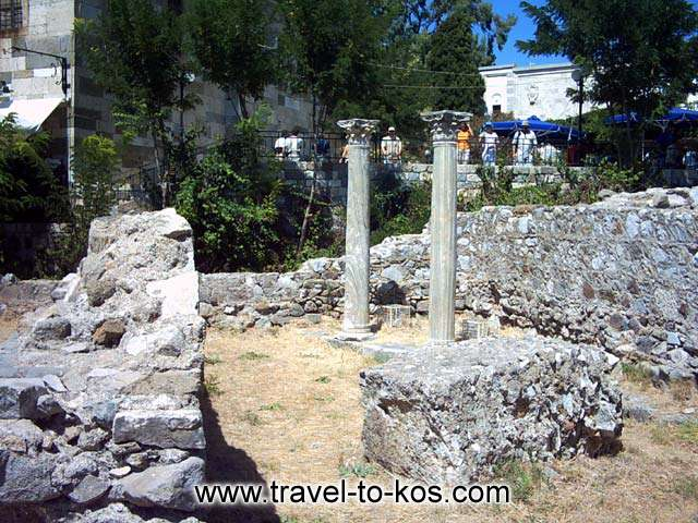 THE ANCIENT TOWN - Part of the ancient town of Kos. the first capital of Kos was located at the southwestern axtremity of the island.