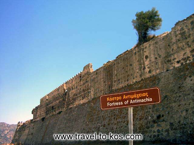 THE FORTRESS OF ANTIMACHIA - The walls of the castle are very well preserved.