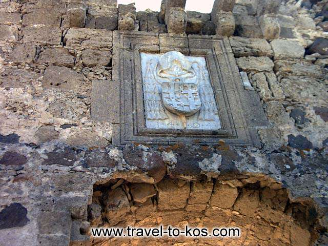 THE FORTRESS OF ANTIMACHIA - Over the gate of the Fortress entrance has preserved the Venetian blazon.