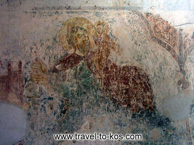 THE CASTLE OF ANTIMACHIA - Byzantium time were built inside the castle two churches, Saint Paraskevi and Saint Nikolaos, with notable wall painting.