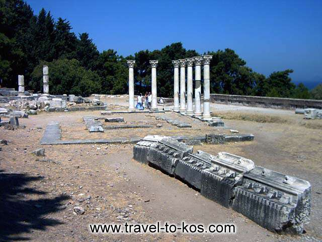 APOLLONOS TEMPLE - Asklepios was taught the medical art by the Centaur Hiron.