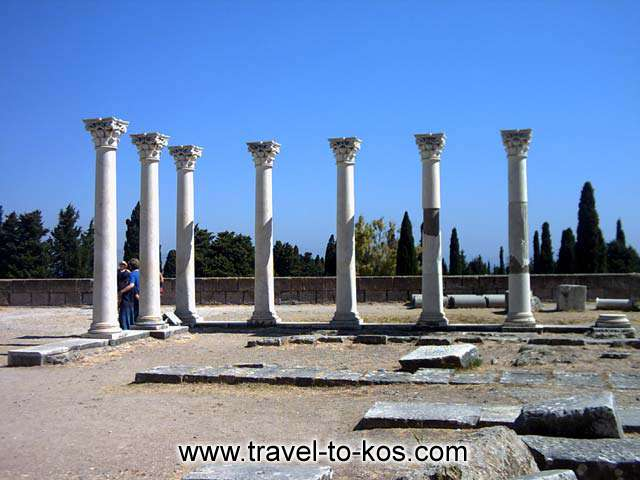 APOLLON TEMPLE - The worship of god Apollon kyparissios had preceded from Asklepios worship.