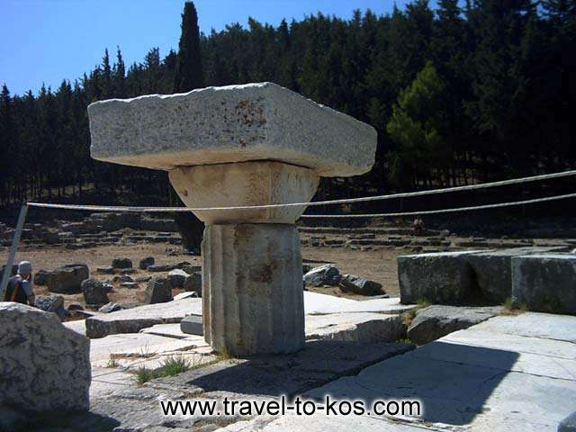 ASKLEPIOS TEMPLE - Tha worship of Asklepios was introduced to the island at the 4th century BC.