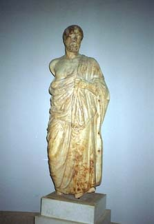 Hippocrates - Kos was the Island that Hippocrates was from and lived/practiced/taught on. Here is a statue of him from the archaeological museum in the town of Kos. by Jon Dolan