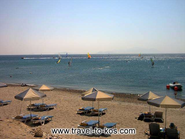 KEFALOS BEACH - Kefalos beach is the perfect choice for sea sport and especially for wind surfing.