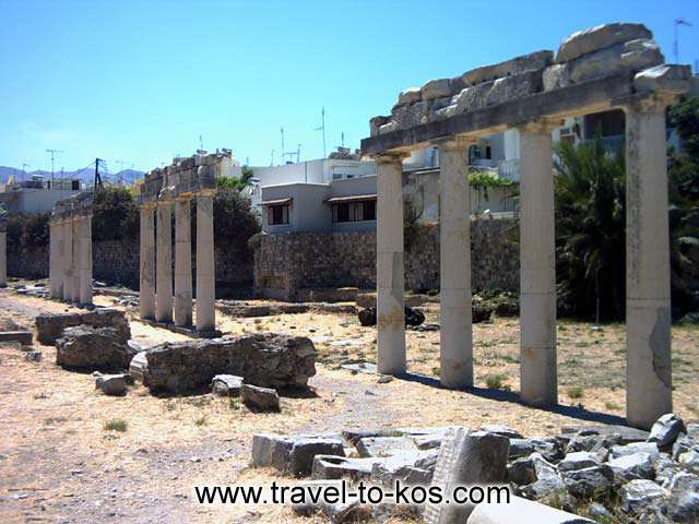 ANCIENT TOWN - A part of the ancient town of Kos.