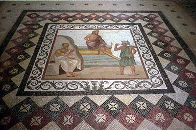 Mosaic - 3rd-century AD mosaic in the same museum as the statue of Hippocrates. by Jon Dolan