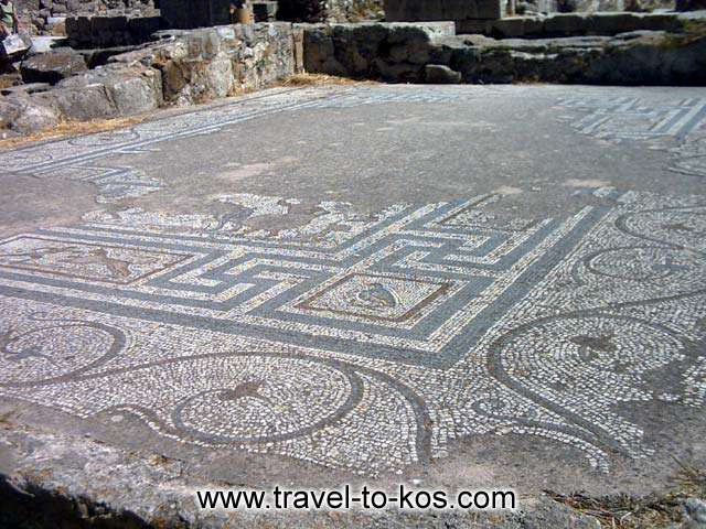 MOSAIC - An impressive mosaic you can see to the ancient town.
