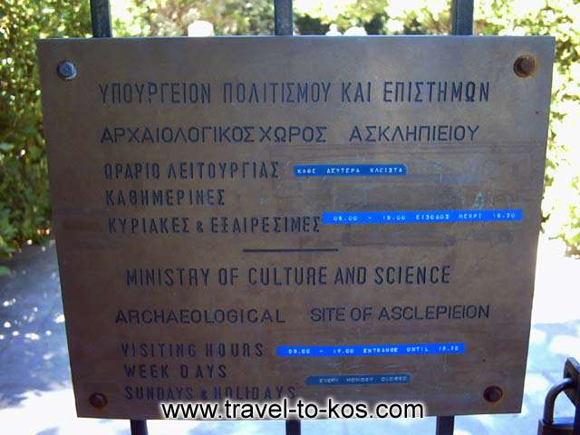 SIGN BOARD - The sign - board at the entrance of the archaeological area give useful information to the visitors.