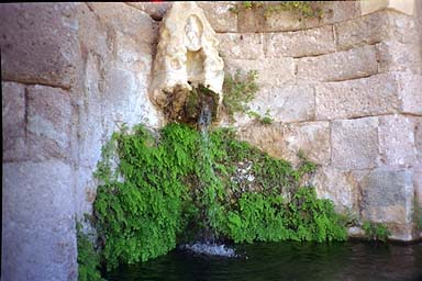 Fountain - This was a fountain in one of the walls of the Asclepion, and the only running water I saw in Greece. Fresh water was a scarce commodity in Greece.
