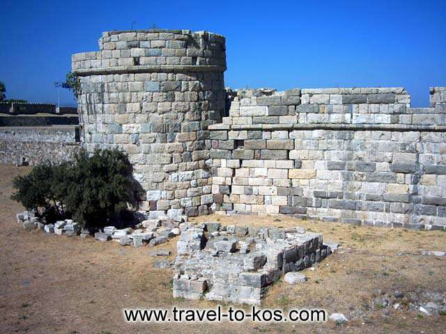 One of the four circular bastions which building for the protection of the port, between the years 1495 and 1514.  KOS PHOTO GALLERY - CIRCULAR BASTION