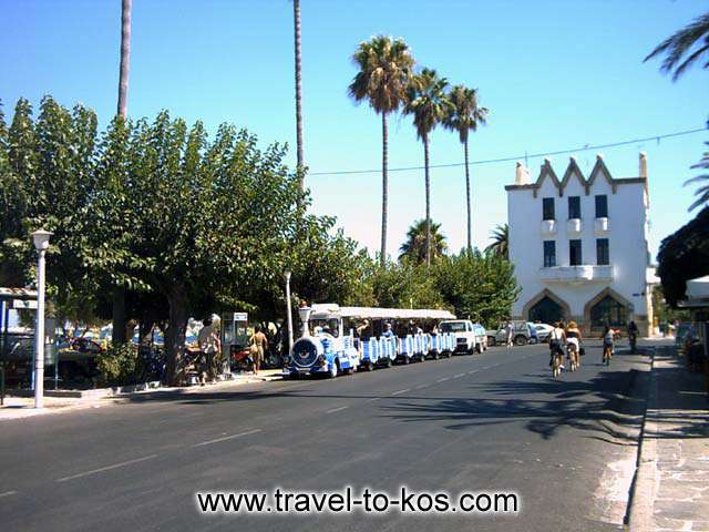TRAIN - A tour around the city with the traditional train is the best guide in order to explore Kos.
