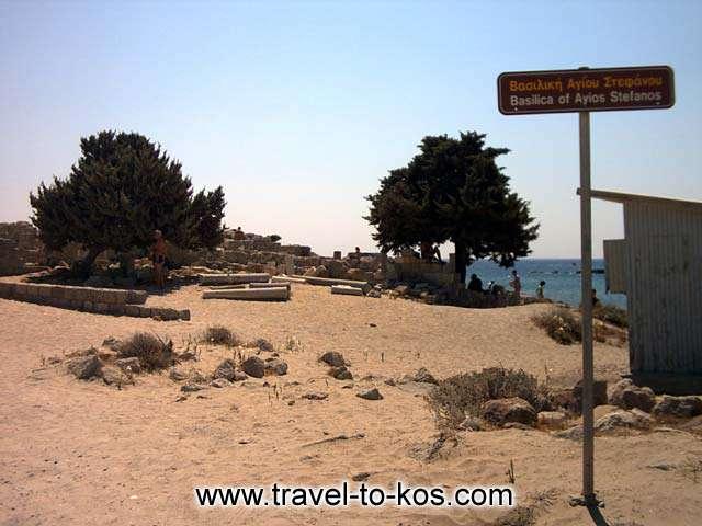 BASILIKA OF AGIOS STEFANOS - The entrance to the archaeological site of Basilica of Agios Stefanos.