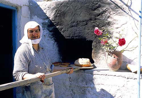 OLD WOMAN AND OVEN -