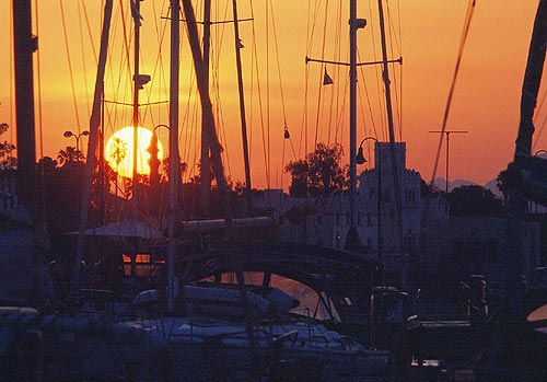 SUNSET IN MARINA -