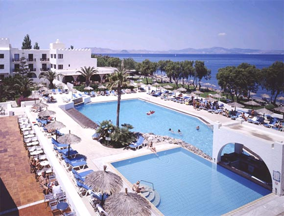 Panoramic view of two swimming pools at Oceanis Beach Resort CLICK TO ENLARGE