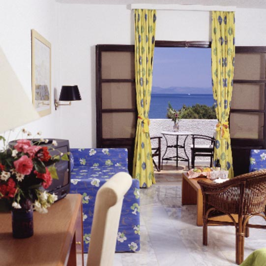 Inside photo of a room with two beds at Oceanis Resort CLICK TO ENLARGE