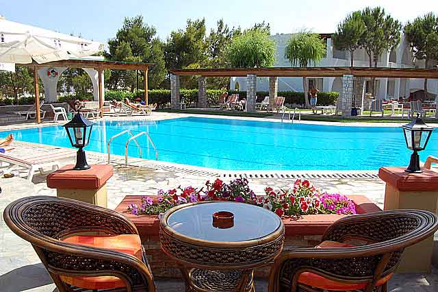 Image of swimming pool of the Palladium hotel, located in Marmari Village of Kos Island, Greece CLICK TO ENLARGE