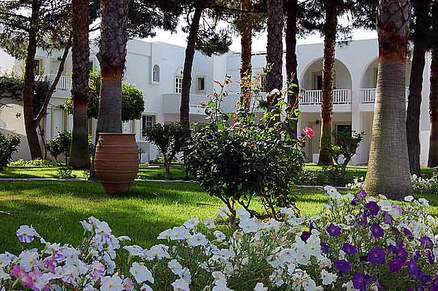 Photo of the beautiful garden of the Palladium hotel CLICK TO ENLARGE