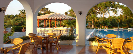 Enjoy the greek sun at the swimming pool of Adromeda hotel CLICK TO ENLARGE