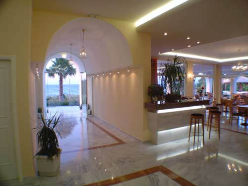 Photo of the reception to Adromeda hotel CLICK TO ENLARGE