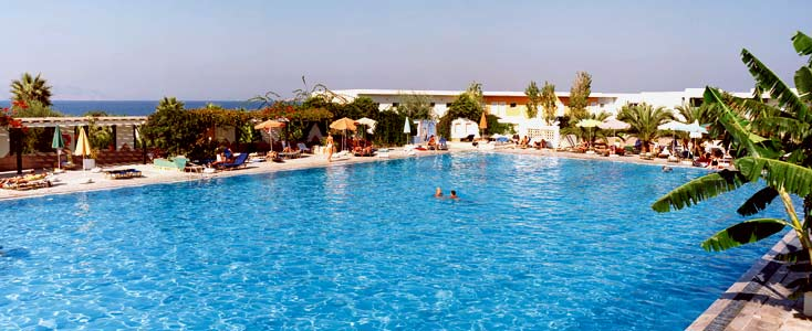 A photo of the swimming pool of Achilleas hotel in Kos CLICK TO ENLARGE