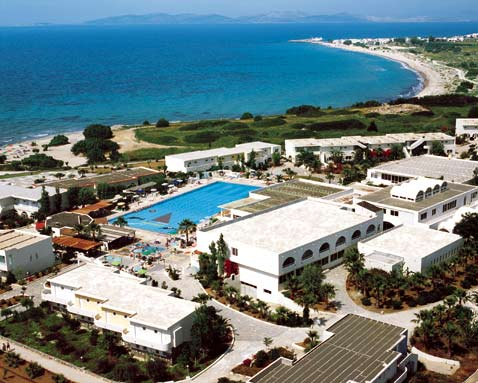 A photo from helicopter of the Achilleas hotel in Kos CLICK TO ENLARGE