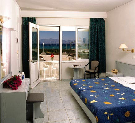 Inside image of a double room of Achilleas hotel in Kos CLICK TO ENLARGE
