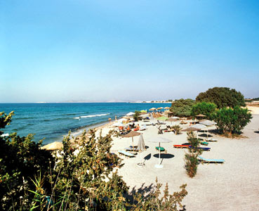 Photo of the beach in front of Achilleas hotel in Kos-Greece CLICK TO ENLARGE