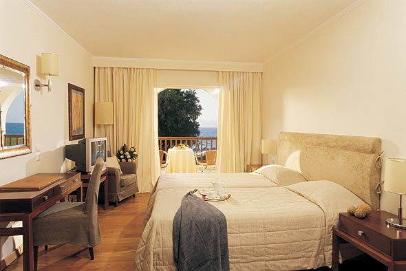 Inside picture of a double room of Neptune Resort hotel in Kos. CLICK TO ENLARGE