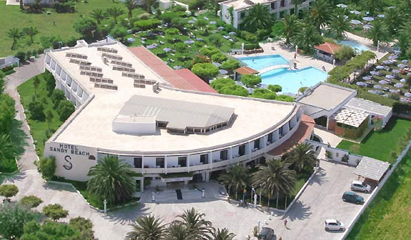 Aerial photo of Sandy hotel on Kos island. CLICK TO ENLARGE