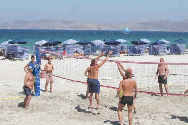 Enjoy the time, the weather and volleyball at Marmari beach. CLICK TO ENLARGE