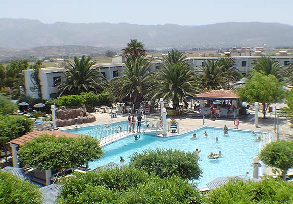 Image of the pool of hotel Sandy Beach, on Marmari village. CLICK TO ENLARGE