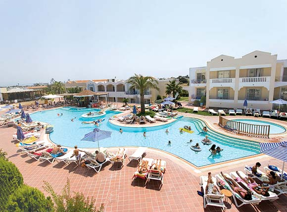 Image of the pool of Pelagos Suites Hotel, located Lambi beach, Kos town. CLICK TO ENLARGE