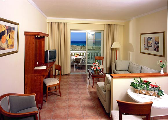 Image of living-room of suite. CLICK TO ENLARGE
