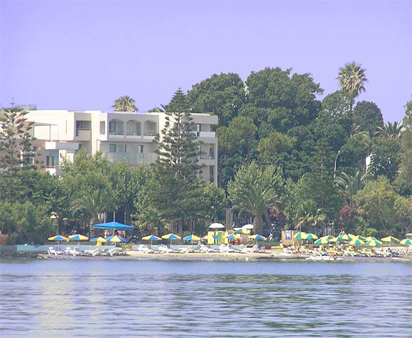 Image of Triton Hotel (on the beach). CLICK TO ENLARGE
