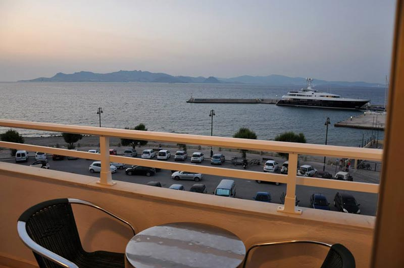 Balcony view (Harbour of Kos Town). CLICK TO ENLARGE