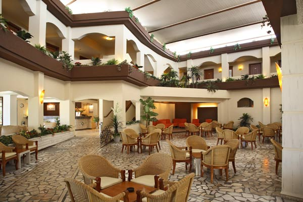 Image of lobby area of Sandy hotel. CLICK TO ENLARGE