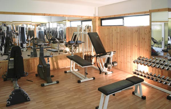 Image of the gym and fitness room of Sandy hotel. CLICK TO ENLARGE