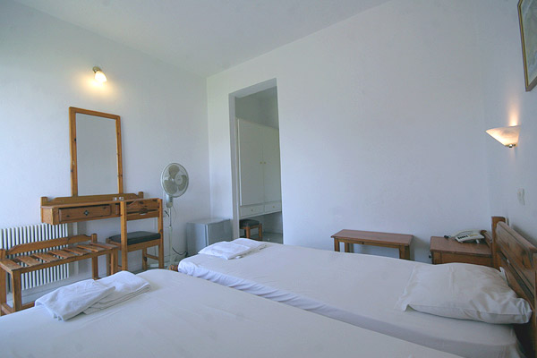 Image of Single room of Hotel Kamelia, Kos Greece. CLICK TO ENLARGE