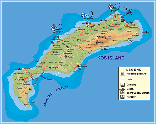 Map of kos island gaia garden hotel 3 kos greece click to view actual photo size map of kos island dodecanese greece gumiabroncs Choice Image